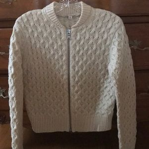 Gap Cable Stitch sweater with zip front.